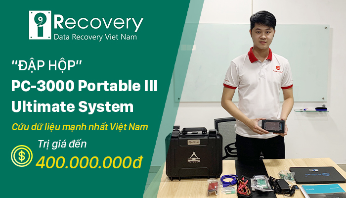 ĐẬP HỘP PC-3000 PORTABLE III ULTIMATE SYSTEM - BỘ CÔNG CỤ PHỤC HỒI DỮ LIỆU iRECOVERY SỞ HỮU
