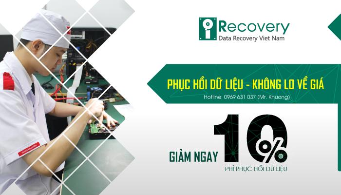 [ Giảm 10% ] Phí khôi phục dữ liệu tại iRecovery